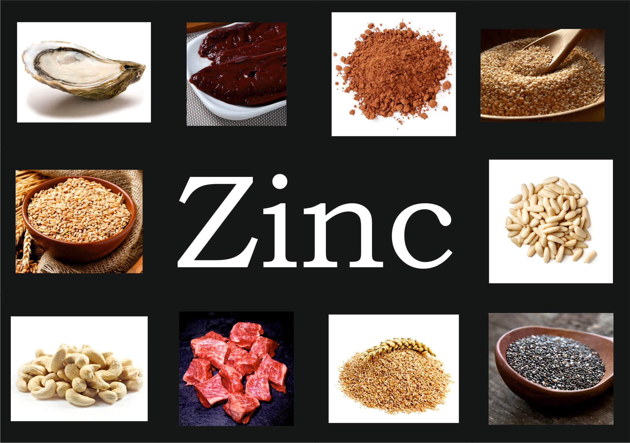 en que comida esta el zinc