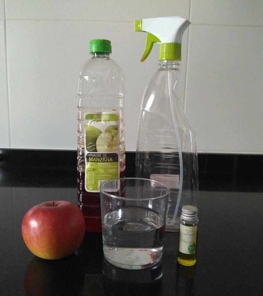 Preparación del vinagre de manzana para el pelo
