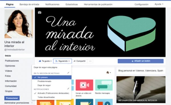 Ver primero página facebook